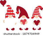 valentines day gnomes with... | Shutterstock .eps vector #1879704949