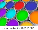 extreme closeup colorful paint... | Shutterstock . vector #187971386
