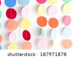 making a colorful paper garland ... | Shutterstock . vector #187971878