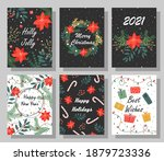 bright christmas card set with... | Shutterstock .eps vector #1879723336
