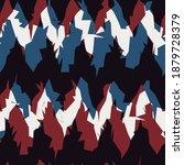seamless abstract chevron...   Shutterstock . vector #1879728379