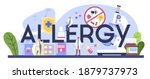allergy typographic header.... | Shutterstock .eps vector #1879737973