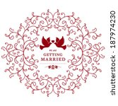 vector wedding card or... | Shutterstock .eps vector #187974230