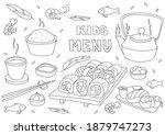 black and white vector... | Shutterstock .eps vector #1879747273