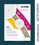 flyer cover stripes and circles ... | Shutterstock .eps vector #1879760959
