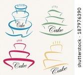 cake design symbol set . | Shutterstock .eps vector #187976390