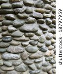 close up view of stone wall - stock photo