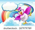 illustration of a bird in the... | Shutterstock . vector #187979789