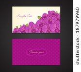 flower thank you card | Shutterstock .eps vector #187979960