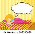 illustration of a young girl... | Shutterstock . vector #187980878