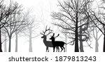 illustration with deer... | Shutterstock .eps vector #1879813243