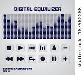 digital equalizer with... | Shutterstock .eps vector #187982288