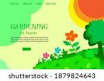 gardening landing page web...