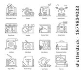 pack of graphic designing and...   Shutterstock .eps vector #1879834033