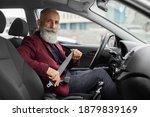 Driving Safety Concept. Senior...
