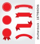 a collection of vector seal ... | Shutterstock .eps vector #187984046