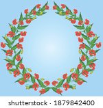 Wreath Of Red Poppies.template...