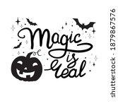 cartoon halloween pumpkin... | Shutterstock .eps vector #1879867576