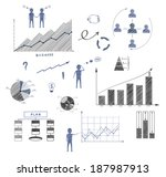 business doodle  elements of... | Shutterstock .eps vector #187987913