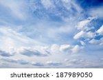 blue sky clouds   Shutterstock . vector #187989050