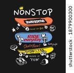 nonstop slogan with cartoon... | Shutterstock .eps vector #1879900300