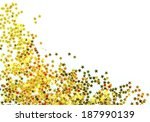 golden stars in the form of... | Shutterstock . vector #187990139