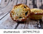 Homemade Liqueur Mince Pie On A ...