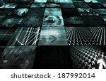 futuristic web cyber data grid... | Shutterstock . vector #187992014