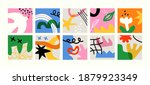 set of colorful abstract art... | Shutterstock .eps vector #1879923349