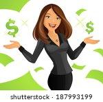 smart lady | Shutterstock .eps vector #187993199