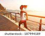 healthy lifestyle sports woman... | Shutterstock . vector #187994189