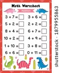 math worksheet for kids....   Shutterstock .eps vector #1879955863