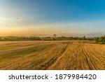 golden fields of wheat aerial... | Shutterstock . vector #1879984420