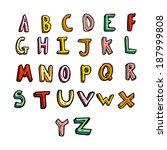 cartoon alphabet | Shutterstock .eps vector #187999808