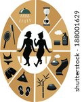 sauna spa icons and female... | Shutterstock .eps vector #188001629