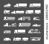 set icons of trucks  trailers... | Shutterstock .eps vector #188001980