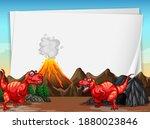 a dinosaur banner template in...   Shutterstock .eps vector #1880023846