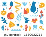 cute abstract background in... | Shutterstock . vector #1880032216