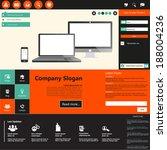 flat web design vector