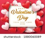 valentines day sale poster with ... | Shutterstock .eps vector #1880060089