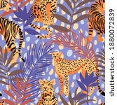 seamless pattern with african... | Shutterstock .eps vector #1880072839