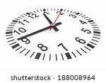 clock isolated on white... | Shutterstock . vector #188008964
