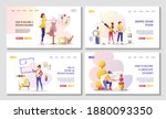 set of web pages for graphic... | Shutterstock .eps vector #1880093350