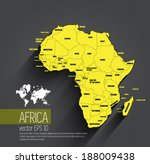 Africa map, vector - stock vector