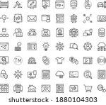 thin outline vector icon set...   Shutterstock .eps vector #1880104303