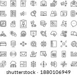thin outline vector icon set... | Shutterstock .eps vector #1880106949