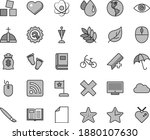 thin line gray tint vector icon ... | Shutterstock .eps vector #1880107630