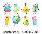 school funny office supplies... | Shutterstock .eps vector #1880117209