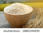 rice in bowl. beautiful white...   Shutterstock . vector #1880144050