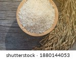 rice in bowl. beautiful white...   Shutterstock . vector #1880144053